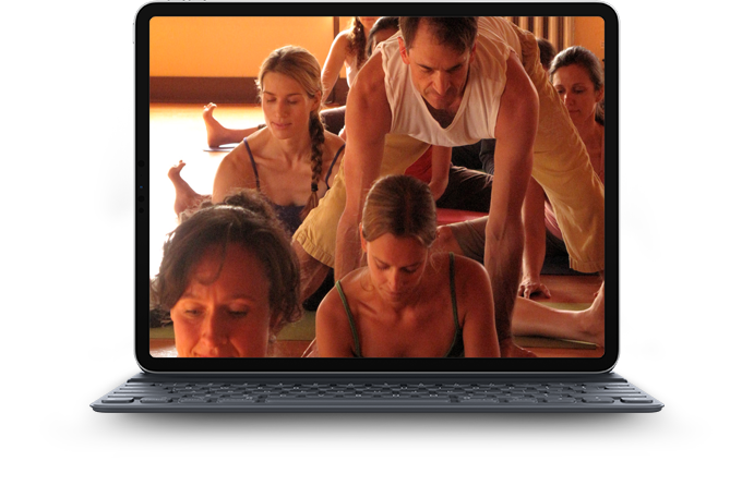 Online yoga training image Mark iPad 1