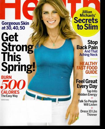 Health magazine cover March 2012